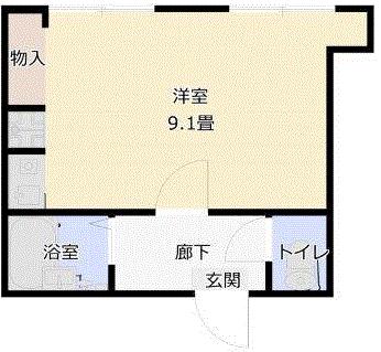 マンションアール1Rの間取り図1