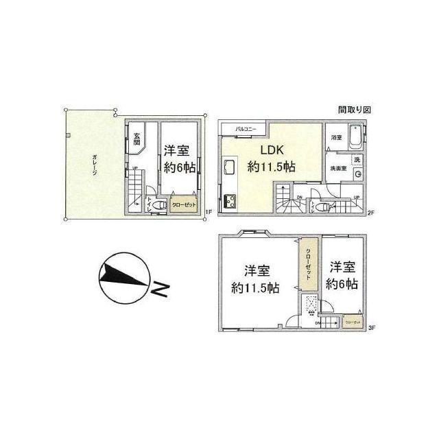 神崎川駅 6分 3LDK 画像2